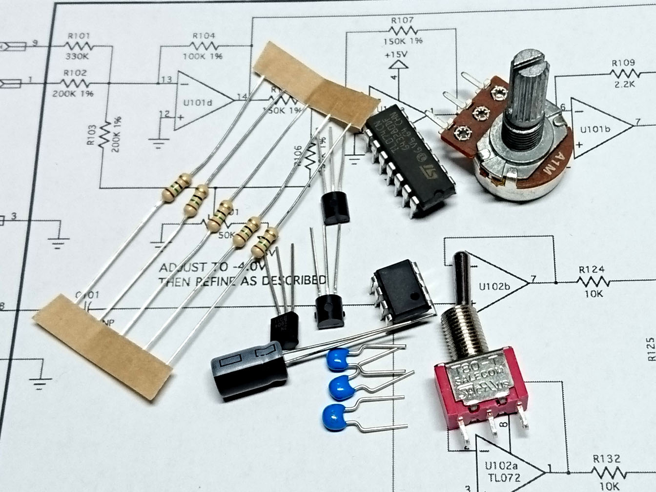 Yusynth Minimoog Transistor Ladder Vcf Module Bare Electronics Parts Kit Circuit