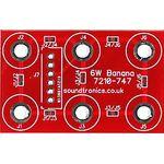 3x2y Banana Socket Panel PCB (18x 18y Pitch)