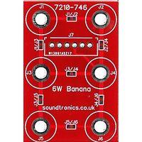 2x3y Banana Socket Panel PCB (20x 18y Pitch)