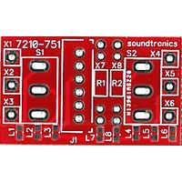 2x1y Toggle Switch Panel PCB (20x Pitch)