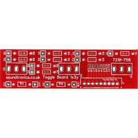 1x3y Toggle Switch Panel PCB (32.5y Pitch)